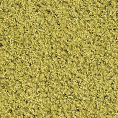 遊び毛が出にくい洗えるナイロン素材のシャギーラグ リーフ 約140×200(四角)