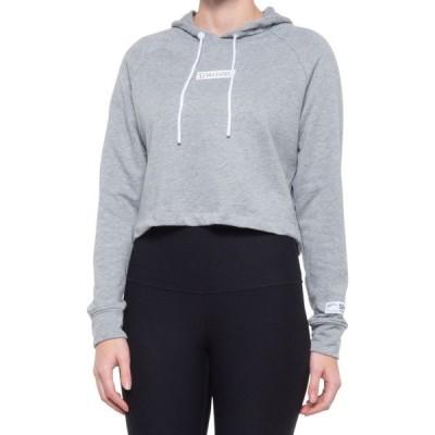 スポルディング Spalding レディース パーカー トップス heritage french terry cropped hoodie Light Heather Grey