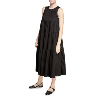 コー レディース ワンピース トップス Sleeveless Tiered Cotton Dress