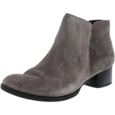 ブーツ シューズ 靴 ボーン Born レディース Holman スエード アンクル レザー ブーツ Grey