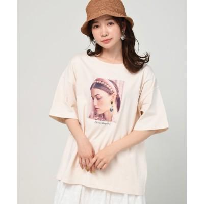 tシャツ Tシャツ アクセ付半袖TEE