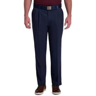 ハガール カジュアルパンツ ボトムス メンズ Cool Right Performance Flex Classic Fit Pleat Front Pant Ink