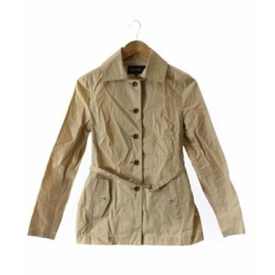 【中古】マカフィー MACPHEE トゥモローランド ジャケット コート ステンカラー スプリング 38 ベージュ