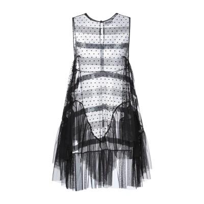 アイネア AINEA ミニワンピース&ドレス ブラック 46 ポリエステル 100% ミニワンピース&ドレス