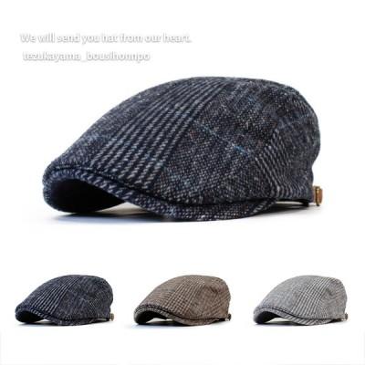 ハンチング メンズ 帽子 ゴルフ ウールグレンチェック トレンド 人気 おしゃれ 父の日 贈り物 プレゼント メンズ