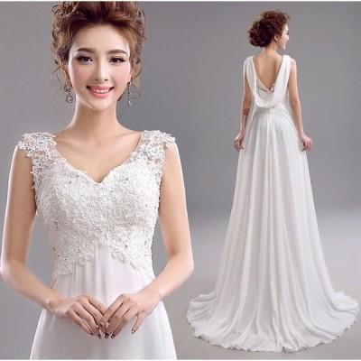 ウェディングドレス 結婚式 二次会 パーティードレス ウエディングドレス スレンダー 花嫁 二次会 ドレス ロングドレスXXS`3XL 小さい 大きいサイズ