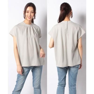 Melan Cleuge 【Melan Cleuge women】トリコットバックボタンシャツ(ベージュ)【返品不可商品】