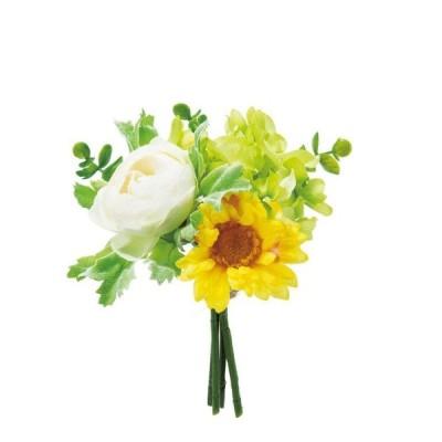 ラナンガーベラバンドル ホワイトイエロー 14束セット FB-2382 2021ds   アレンジメント アートフラワー 花資材 造花 ハナキンポウゲ ハナグルマ ディスプレイ
