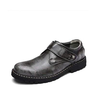 [POSTBULL] ブーツ 革靴 メンズ ローファー ビジネスシューズ ウォーキング おしゃれ (グレー 24.5 cm 3E)