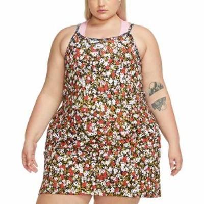 ナイキ レディース ワンピース トップス Plus Size Sportswear Women's Dress Firewood Orange/Black Floral Print