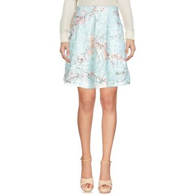 エムエスジーエム MSGM ひざ丈スカート ターコイズブルー 46 ポリエステル 100% ひざ丈スカート