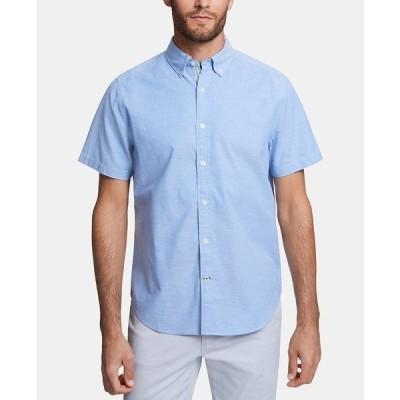 ナウティカ シャツ トップス メンズ Men's Stretch Oxford Shirt Light French Blue