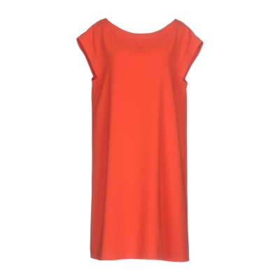 BOUTIQUE MOSCHINO ミニワンピース&ドレス 赤茶色 40 トリアセテート 70% / ポリエステル 30% ミニワンピース&ドレス