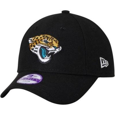キッズ スポーツリーグ フットボール Jacksonville Jaguars New Era Youth League 9FORTY Adjustable Hat - Black - OSFA 帽子
