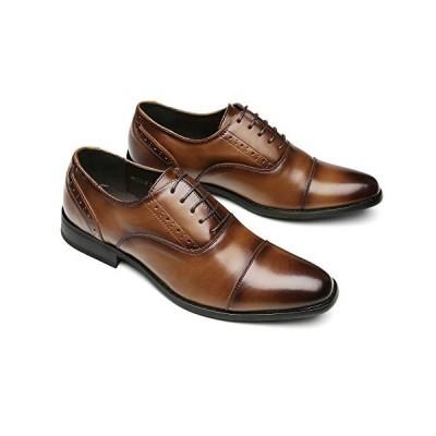 Agustin JP ビジネスシューズ 革靴 本革 メンズ 紳士靴 防滑 通気性 軽量 AG-3(ブラック、ブラウン)24.5cm-27.0cm (2