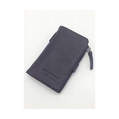 GUAIDI 本革 牛革 キーケース 小銭ポケット付き 6連 スマートキーケース コーヒー色