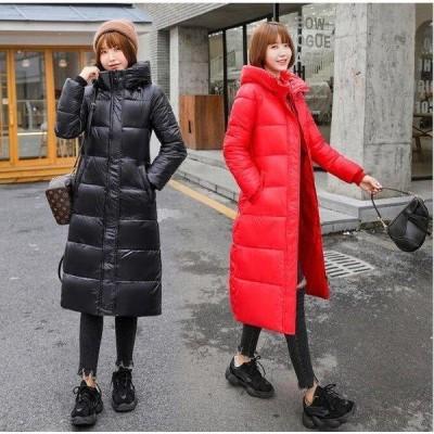 中綿コート ダウン風コート 冬用 レディース 大きいサイズ ロング丈 フード付き ダウン風ジャケット アウター 暖かい 30代 40代
