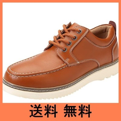 [NEARDREAM] デッキシューズ カジュアルシューズ メンズ 革靴 メンズシューズ カジュアル ワークシューズ 厚底 本革 レースアップ ウオ