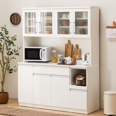 食器棚(レジューム 150TG-H WH/150TL-R WH) ニトリ 『配送員設置』 『5年保証』