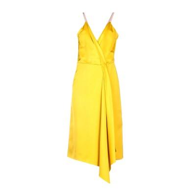 VICTORIA BECKHAM 7分丈ワンピース・ドレス イエロー 6 シルク 52% / レーヨン 48% 7分丈ワンピース・ドレス