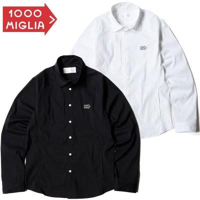 (ミッレ ミリア/Mille Miglia)2Way ストレッチシャツ 刺繍 ロゴ 日本製