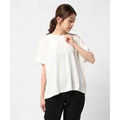 tシャツ Tシャツ リネンバックデザインプルオーバー