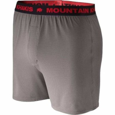 マウンテンカーキス Mountain Khakis メンズ ボクサーパンツ インナー・下着 Bison Boxer Gunmetal