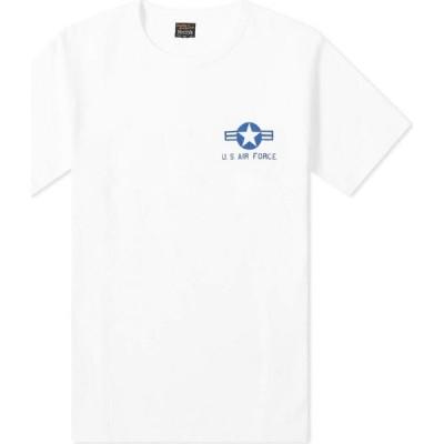 ザ リアル マッコイズ The Real McCoys メンズ Tシャツ トップス the real mccoy's u.s. air force tee White