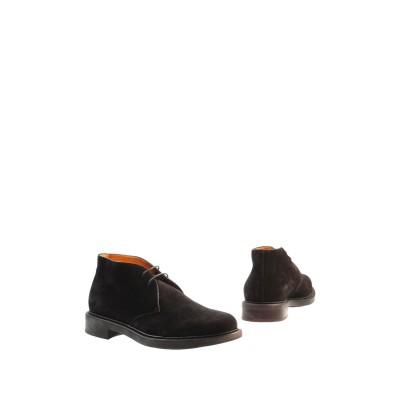SANTONI ショートブーツ ブラック 6.5 革 ショートブーツ
