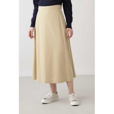 HUMAN WOMAN/ヒューマンウーマン ◆テンセルコットンスカート ベージュ M