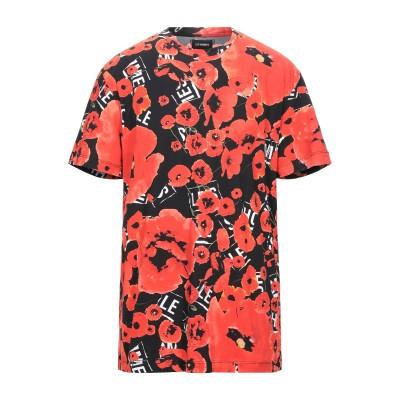 LES HOMMES T シャツ レッド XS コットン 100% T シャツ