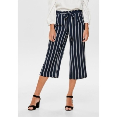 オンリー カジュアルパンツ レディース ボトムス ONLWINNER PALAZZO CULOTTE PANT - Trousers - blue