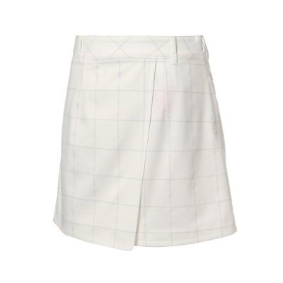 【プーマ】 ゴルフ EGW ウィメンズ ウィンドペン ラップ スカート レディース BRIGHTWHITE XL PUMA