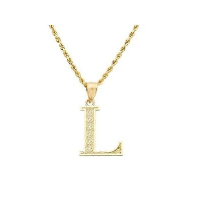 【新品】LoveBling チャームペンダント 10Kイエローゴールド ダイヤモンドカット アルファベットA〜Zのイニシャル文字 Lサイズ