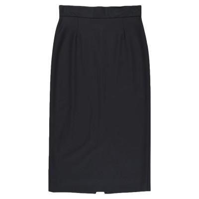 アレッサンドロデラクア ALESSANDRO DELL'ACQUA 7分丈スカート ブラック 38 ポリエステル 53% / バージンウール 43%