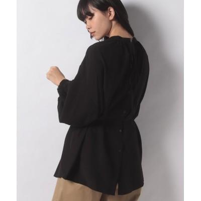 (INGNI/イング)前後2WAYリボンシャツ/レディース ブラック