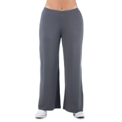 24セブンコンフォート カジュアルパンツ ボトムス レディース Women's Plus Size Comfortable Palazzo Lounge Pants Charcoal