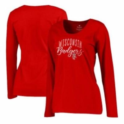 Fanatics Branded ファナティクス ブランド スポーツ用品  Fanatics Branded Wisconsin Badgers Womens Red Plus Size