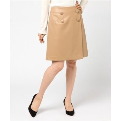 パインレザー スカート