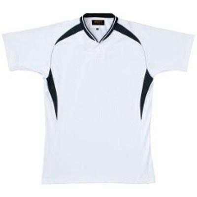 ゼット ZETT ベースボールシャツ BOT740A [カラー:ホワイト×ブラック] [サイズ:XO] #BOT740A スポーツ・アウトドア