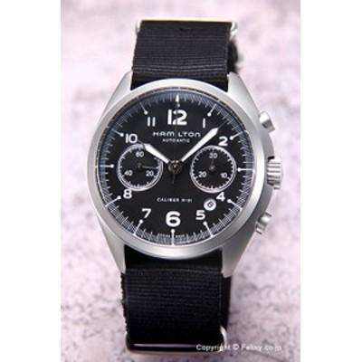 ハミルトン 腕時計 メンズ カーキ パイロット パイオニア オート クロノ ブラック/ナイロン H76456435