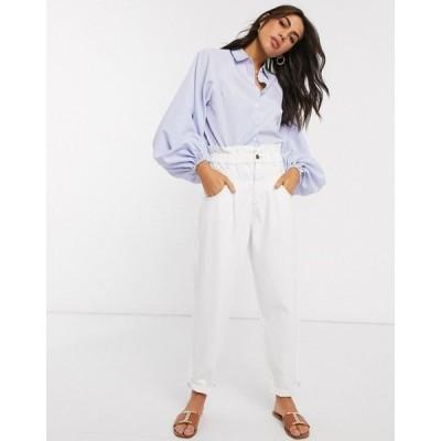 エイソス ASOS DESIGN レディース ブラウス・シャツ トップス volume sleeve cotton shirt in stripe print マルチカラー