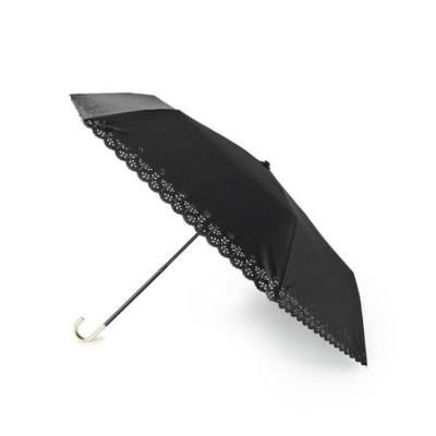【晴雨兼用】[UV99%カット]フラワーヒートカット折り畳み傘