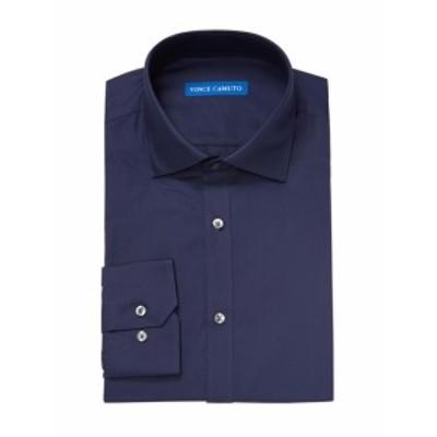 ヴィンス カミュート メンズ ドレスシャツ ワイシャツ Solid Slim Fit Cotton Dress Shirt