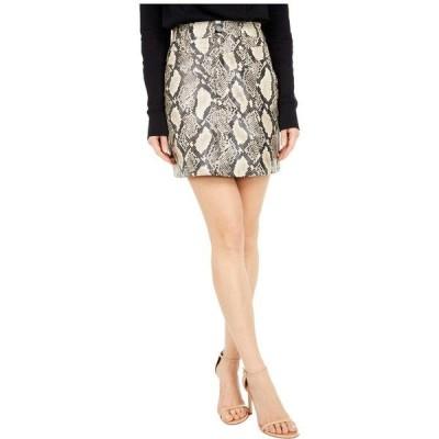 ブランクニューヨーク レディース スカート ボトムス Snake Printed PU Fit Double Yoke Miniskirt