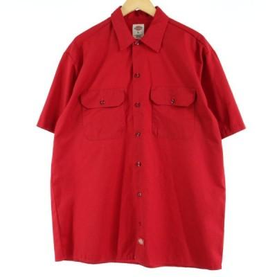 ディッキーズ Dickies 半袖 ワークシャツ メンズL /eaa016970