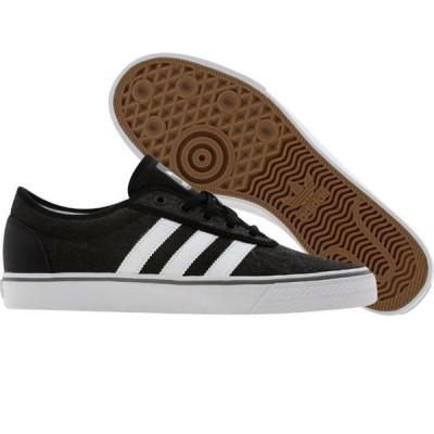 ユニセックス スニーカー シューズ Adidas Skate Adi Ease (black / runninwhite / college aqua)