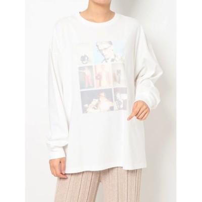 MERCURYDUO / 【David Bowie】ロングスリーブTシャツ【ロンT/長袖】 WOMEN トップス > Tシャツ/カットソー