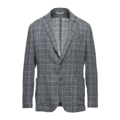 BOTTEGA MARTINESE テーラードジャケット ダークブルー 52 ウール 40% / リネン 30% / シルク 30% テーラードジャ
