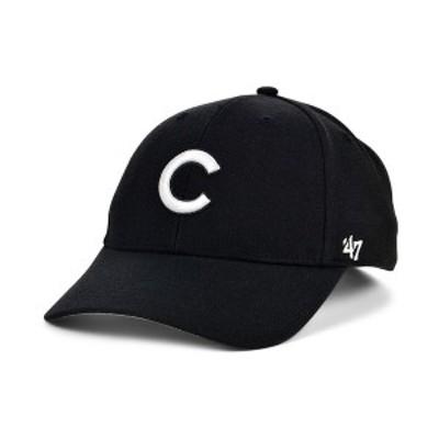 47ブランド メンズ 帽子 アクセサリー Chicago Cubs Black White MVP Cap Black